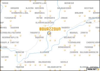 map of Bouazzoun