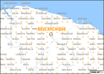 map of Boucan Chique