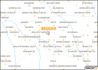 map of Boudhir