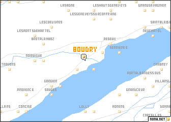 map of Boudry