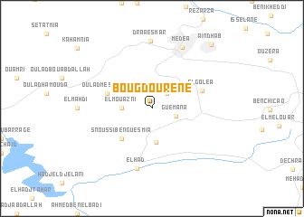 map of Bou Gdourene