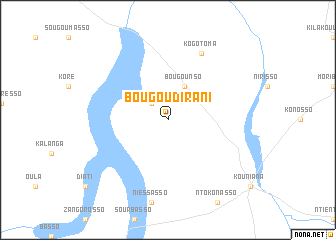 map of Bougoudirani