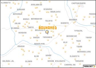 map of Bou Hamed