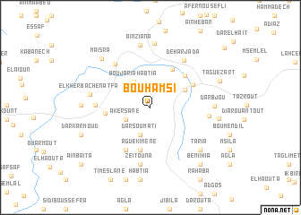 map of Bou Hamsi
