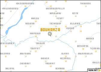 map of Bou Hamza