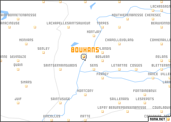 map of Bouhans