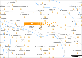 map of Bouizrane el Foukani