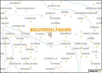 map of Bouizrane el Foukani