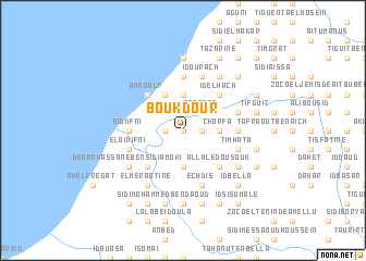 map of Boukdour