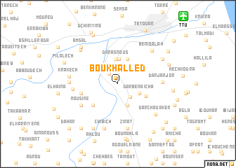 map of Bou Khalled