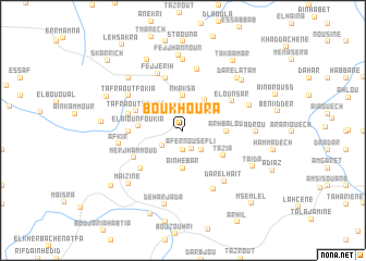 map of Bou Khoura
