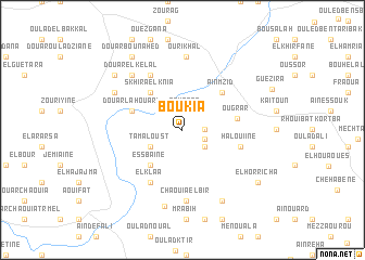 map of Boukia