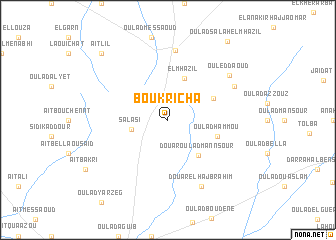 map of Bou Kricha