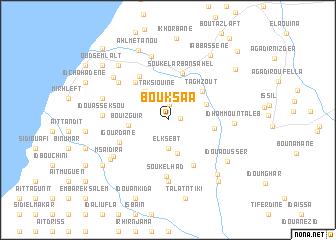 map of Bouksaa