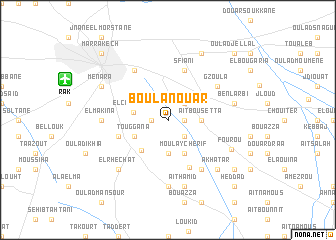 map of Bou Lanouar