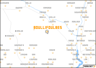 map of Boulli Foulbés