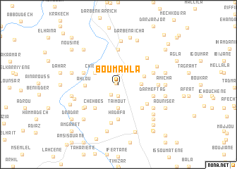 map of Bou Mahla