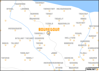 map of Bou Medour