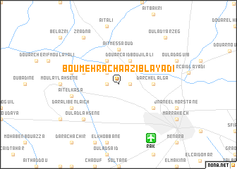 map of Bou-Mehracha Azib-Layadi