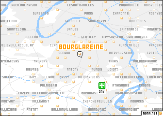map of Bourg-la-Reine