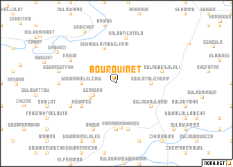 map of Bou Rouinet