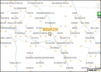 map of Bourzik