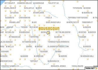 map of Bou Sagoun
