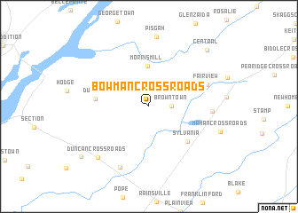 map of Bowman Crossroads