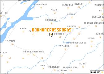 map of Bowman Crossroads