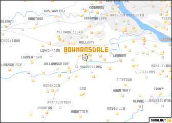 map of Bowmansdale