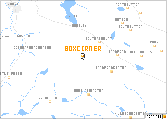 map of Box Corner