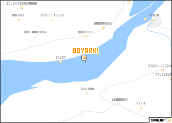 map of Boyarki