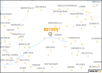 map of Boyers