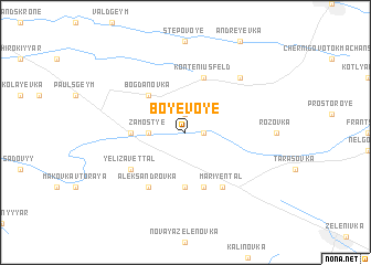 map of Boyevoye