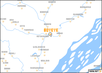 map of Boyéyé