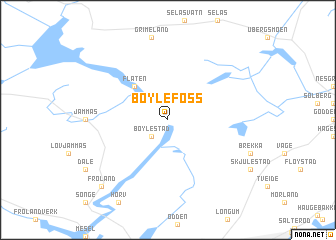 map of Bøylefoss