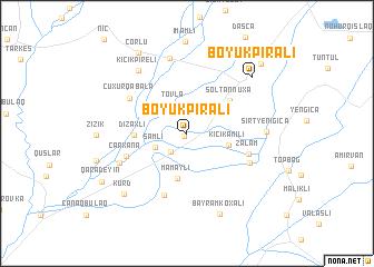 map of Böyük Pirǝli