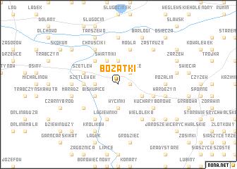 map of Bożatki