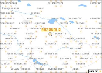 map of Boża Wola
