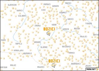 map of Božići