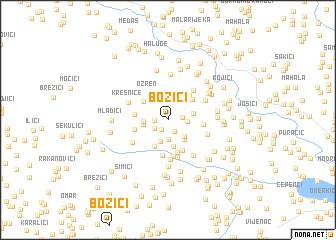 map of Božići