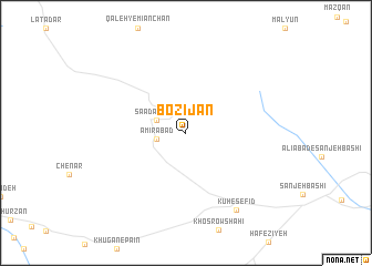 map of Bozījān