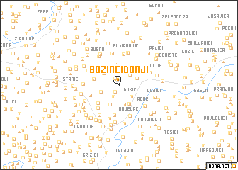 map of Božinci Donji