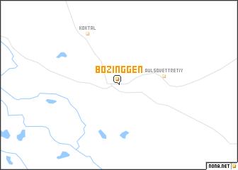 map of Bozinggen