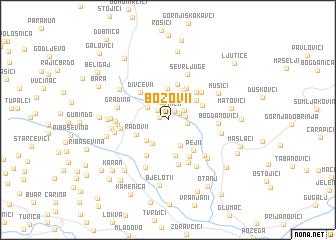 map of Božovi°i