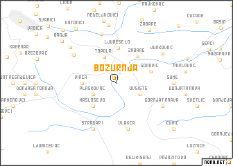 map of Božurnja