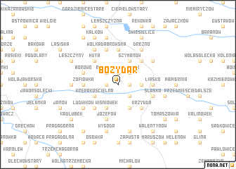 map of Boży Dar