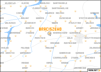 map of Braciszewo