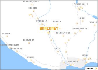 map of Brackney