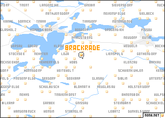map of Brackrade